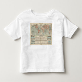 Hohen und Tiefen - Highs and Lows Atlas Map Toddler T-Shirt