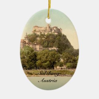 Hohensalzburg Castle III, Salzburg, Austria Christmas Ornament