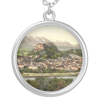Hohensalzburg Castle, Salzburg, Austria Silver Plated Necklace