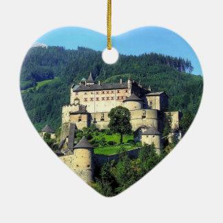 Hohenwerfen Castle Ceramic Heart Decoration