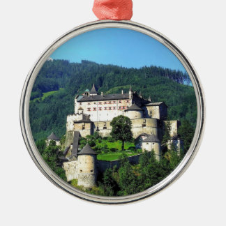 Hohenwerfen Castle Silver-Colored Round Decoration