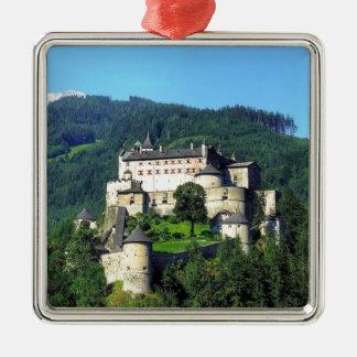 Hohenwerfen Castle Silver-Colored Square Decoration