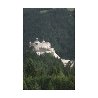 Hohenwerfen castle stretched canvas print