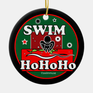 HoHoHo Christmas Swim Christmas Ornament