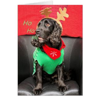 HoHoHo Cute Dog Greeting Card
