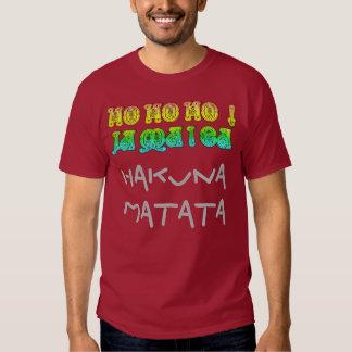 HoHoHo! Hakuna Matata Jamaica Merry Christmas art Tees