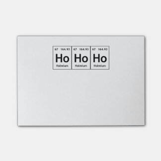HoHoHo Holmium Element Periodic Table Word Science Post-it Notes