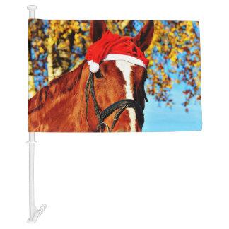hohoho Horse 2 Car Flag
