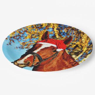 HOHOHO Horse 9 Inch Paper Plate