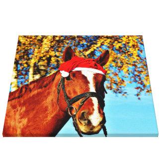 HOHOHO Horse Gallery Wrapped Canvas