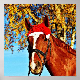HOHOHO Horse Poster