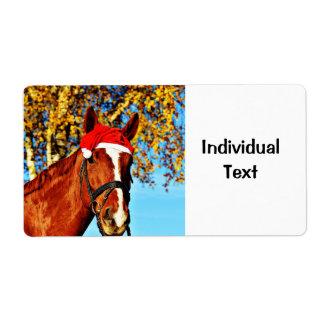 HOHOHO Horse Shipping Label