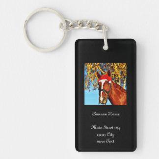 hohoho Horse Single-Sided Rectangular Acrylic Key Ring