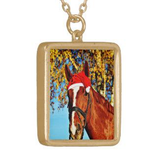HOHOHO Horse Square Pendant Necklace