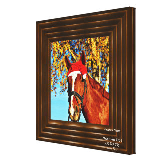hohoho Horse Stretched Canvas Prints