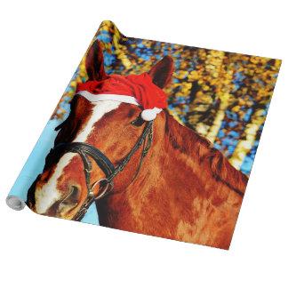 HOHOHO Horse Wrapping Paper