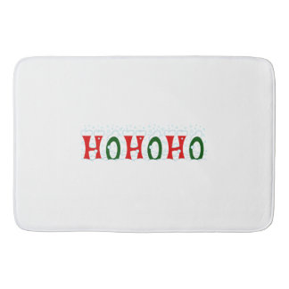 HOHOHO Santa Claus Laugh Snow Blizzard Christmas Bath Mat