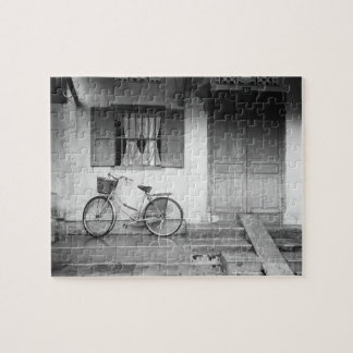 Hoi An Vietnam, House with Bicycle Jigsaw Puzzle
