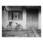 Hoi An Vietnam, House with Bicycle Poster