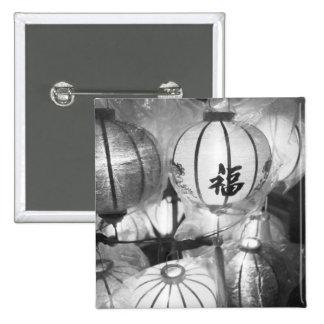 Hoi An Vietnam, Lanterns 15 Cm Square Badge