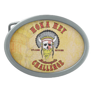 Hoka Hey Pewter Belt Buckle