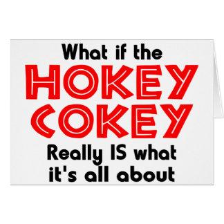 hokey cokey greeting card