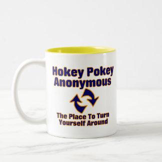 Hokey Pokey Anonymous Two-Tone Coffee Mug