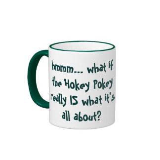 Hokey Pokey Humor Ringer Mug
