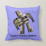Hokey Pokey Robot Throw Pillows