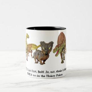 hokey pokey Two-Tone coffee mug