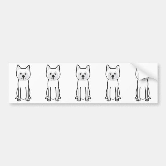 Hokkaido Dog Cartoon Bumper Sticker