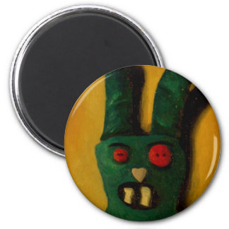 Hoku Zombie Bunny 1 6 Cm Round Magnet