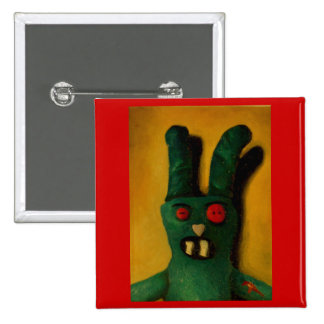 Hoku Zombie Bunny 1 15 Cm Square Badge