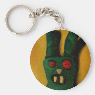 Hoku Zombie Bunny 1 Basic Round Button Key Ring