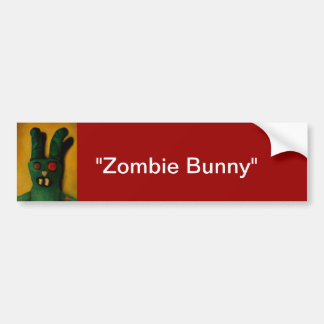 Hoku Zombie Bunny 1 Car Bumper Sticker