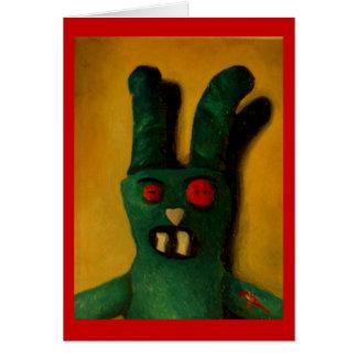 Hoku Zombie Bunny 1 Greeting Card