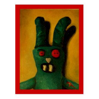 Hoku Zombie Bunny 1 Postcard