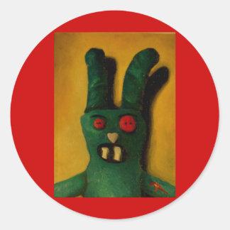 Hoku Zombie Bunny 1 Round Sticker