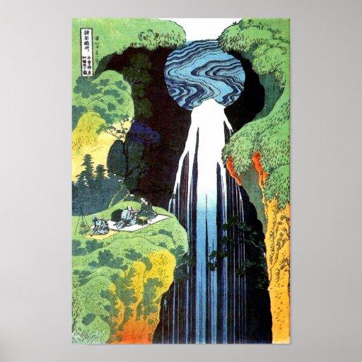 Hokusai Amida Waterfall Fine Art