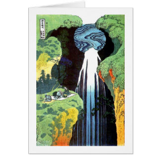 Hokusai Amida Waterfall Fine Art Card