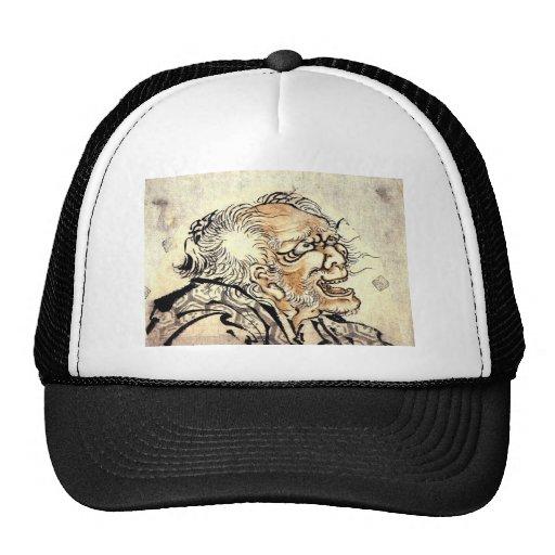 Hokusai Art painting Mesh Hat