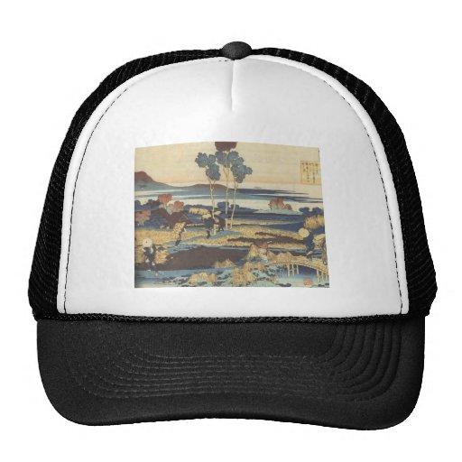 Hokusai Art painting Landscape Mesh Hat