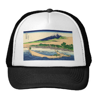 Hokusai Art painting Mountains Cap