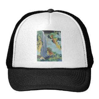 Hokusai Art painting Mountains Cap