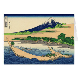 Hokusai Art painting Mountains Card