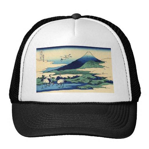 Hokusai Art painting Mountains Hats