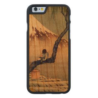 Hokusai Boy Viewing Mount Fuji Japanese Vintage Carved® Cherry iPhone 6 Case