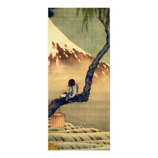 Hokusai Boy Viewing Mount Fuji Japanese Vintage Personalized Announcement Cards