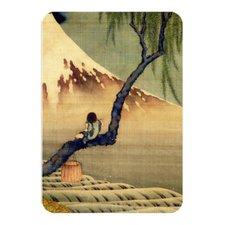 Hokusai Boy Viewing Mount Fuji Japanese Vintage Personalized Invitations