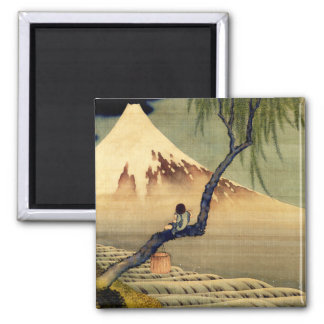 Hokusai Boy Viewing Mount Fuji Japanese Vintage Magnet